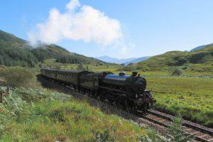 Steam train above Glenfinnan